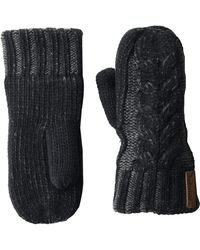 Timberland Plaited Cable Mittens - Black