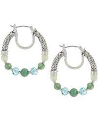 Napier - Multi-colored Beaded Hoop Earrings - Lyst