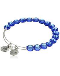 ALEX AND ANI - Bangle Bracelet Bar Color Palette Sapphire-color Luxe Bangle Bracelet - Lyst