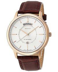 GANT Quartz Watch W10933 W10933 With Leather Strap - Metallic