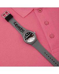 Superdry Reloj Analógico de Cuarzo para Hombre con Correa de Silicona - SYG198EE - Gris