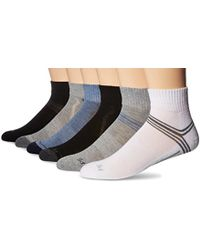Perry Ellis - Portfolio Dune 6 Pack Performance Quarter Socks - Lyst