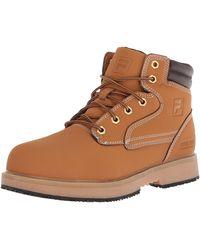 Fila Landing Steel Slip Resistant Industrial Work Boot Food Service Shoe - Marrone