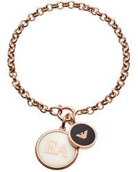 Emporio Armani Acier Bracelet en chaîne EGS2583221 - Rose