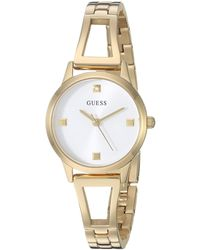 Guess Analog Watch With Stainless Steel Strap - White