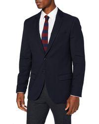 Scotch & Soda Classic Singlbreasted Blazer in Yarn-Dyed Pattern Giacca Casual - Blu