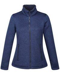 Regatta Razia Knit Effect Full Zip Fleece Sweater - Azul