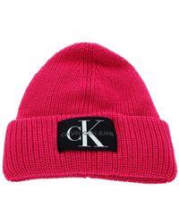 Calvin Klein CKJ Beanie Pink Glo - Rose