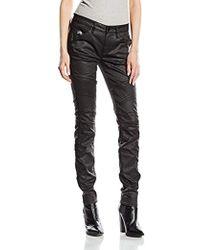 G-Star RAW 5620 Elwood Custom Mid Waist Skinny Jeans - Schwarz