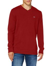 Tommy Hilfiger Tjm Essential V-Neck Sweater Maglione - Blu