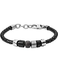 Fossil Sans métal Bracelets multi-rangs JF03111998 - Noir