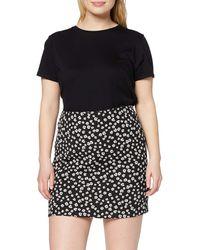 Dorothy Perkins Black Ditsy Floral Print Textured Mini Skirt