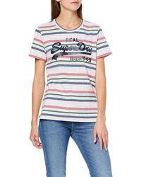 Superdry Vintage Logo Entry Tee T-Shirt - Gris