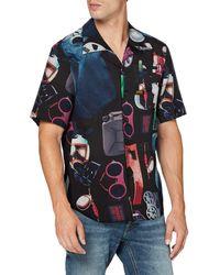 G-Star RAW Bristum Straight Short Sleeve Camisa - Negro