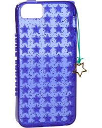 Juicy Couture Starburst Jelly Iphone 5 Case With Star Charm - Purple