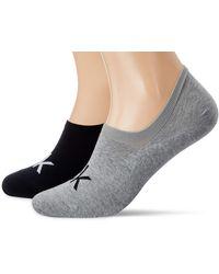 Calvin Klein Liner-Socken mit Logo für Herren Von Chaussettes - Gris