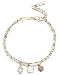 Kenneth Cole - Gold-tone Charm Anklet - - Lyst
