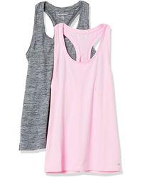 Amazon Essentials 2-Pack Tech Stretch Racerback Tank Top Denim-Outerwear-Vests - Rosa