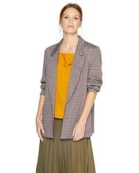 Nine West Notch Collar Kiss Front Jacket With Two Pockets - Multicolor