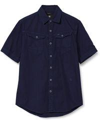G-Star RAW ARC 3D Slim Short Sleeve Camisa - Azul