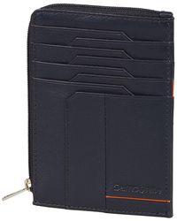 Samsonite All-In-One Wallet With Zip Around Porte-Carte de - Bleu