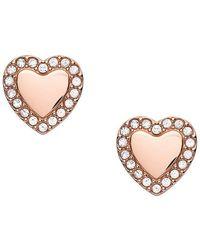 Fossil Orecchini donna ear studs cuore Be Mine Rosé JF03364791 - Rosa
