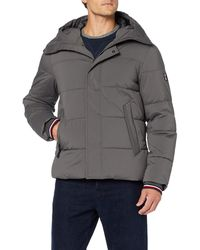 Tommy Hilfiger Stretch Nylon Hooded Bomber Blouson-,Gris