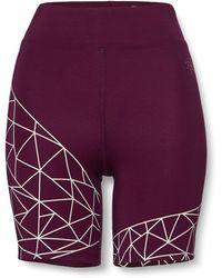 AURIQUE Cycling Shorts - Purple