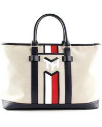 Tommy Hilfiger Casual Canvas Tote Light Stone - Schwarz