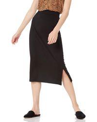 Amazon Essentials Pull On Knit Midi Skirt - Black