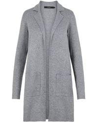 Vero Moda Vmtasty Fullneedle Ls New Coatigan Noos Coat - Grey