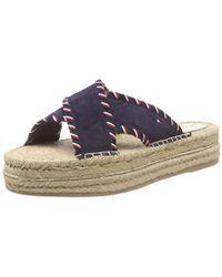 Tommy Hilfiger - Interlace Suede Flatform Sandal Platform - Lyst