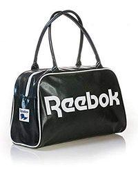 Reebok S Classic Royal Duffle Bag Handbag Black White