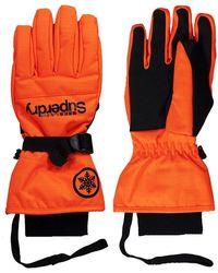 Superdry Gants De Ski Ultimate Snow Service Orange