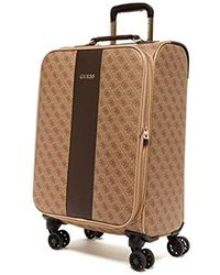 "Guess - Nissana 20"" Spinner 8-wheeler Brown With Gold Hardware - Lyst"