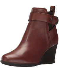 Geox D Inspiration Wedge D Boots - Brown