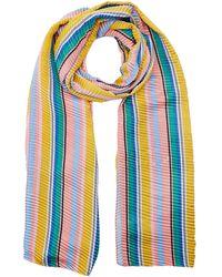 Dorothy Perkins Silky Plisse Stripe Scarf - Blue