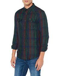 Wrangler LS Western Shirt Camicia Uomo - Grigio