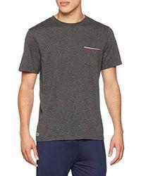 Lacoste Camiseta de Pijama para Hombre - Gris