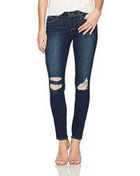 PAIGE - Verdugo Ultra Skinny Jeans Emmett Destructed - Lyst