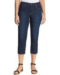 Nine West Misses Gramercy Skinny Crop Length Clean Hem Jean - Blue