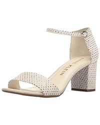 Anne Klein - Camila Leather Heeled Sandal - Lyst