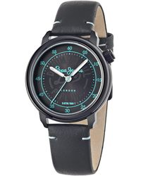 Pepe Jeans - Sally Quartz Watch With Black Dial Analogue Display And Black Leather Strap R2351117503 - Lyst