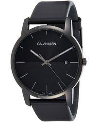 Calvin Klein Unisex Erwachsene Analog-Digital Quarz Uhr mit Edelstahl Armband K2G22143 - Mehrfarbig