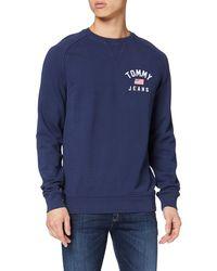 Tommy Hilfiger TJM Washed Chest Graphic Crew Sweatshirt - Blau
