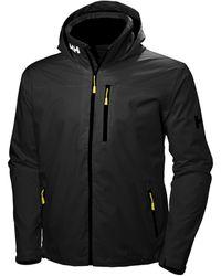 Helly Hansen Crew Hooded Jacke Jacket - Black