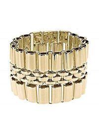 Michael Kors - Wristband Gold One Size Bracelet Mkj1887710 - Lyst
