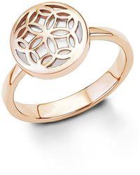 S.oliver Ring Perlmutt 925 Silber rhodiniert Gr. 56 - Mettallic
