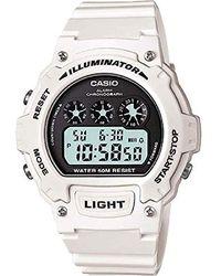 G-Shock Orologio Digitale Unisex con Cinturino in Resina W-214HC-7AVEF - Bianco