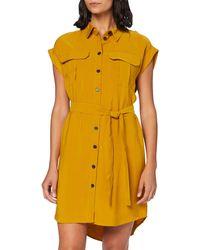 Vero Moda - Vmvenus Wide S/l Short Shirt Dress Wvn Vestito - Lyst
